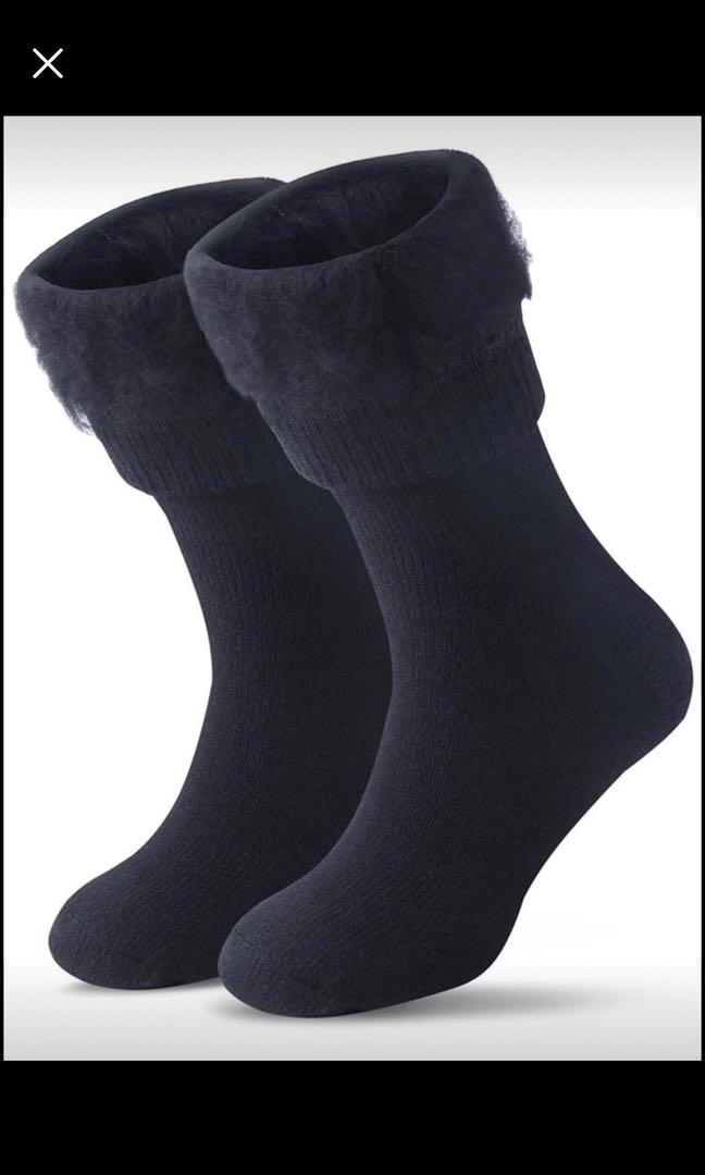Brand new Women Men Winter Warm Wool Pile Lined Insulated Thermals Socks (M/ Mens 4-8; Womens 6-12