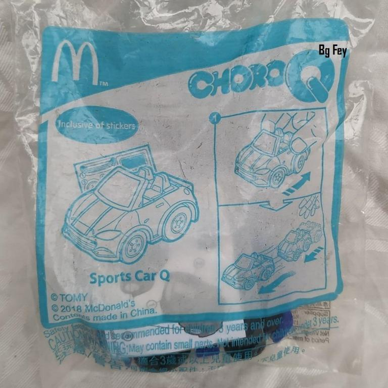 Choroq Sports Car Q Pull back Action Happy Meal Mc Donald 2018 - Segel