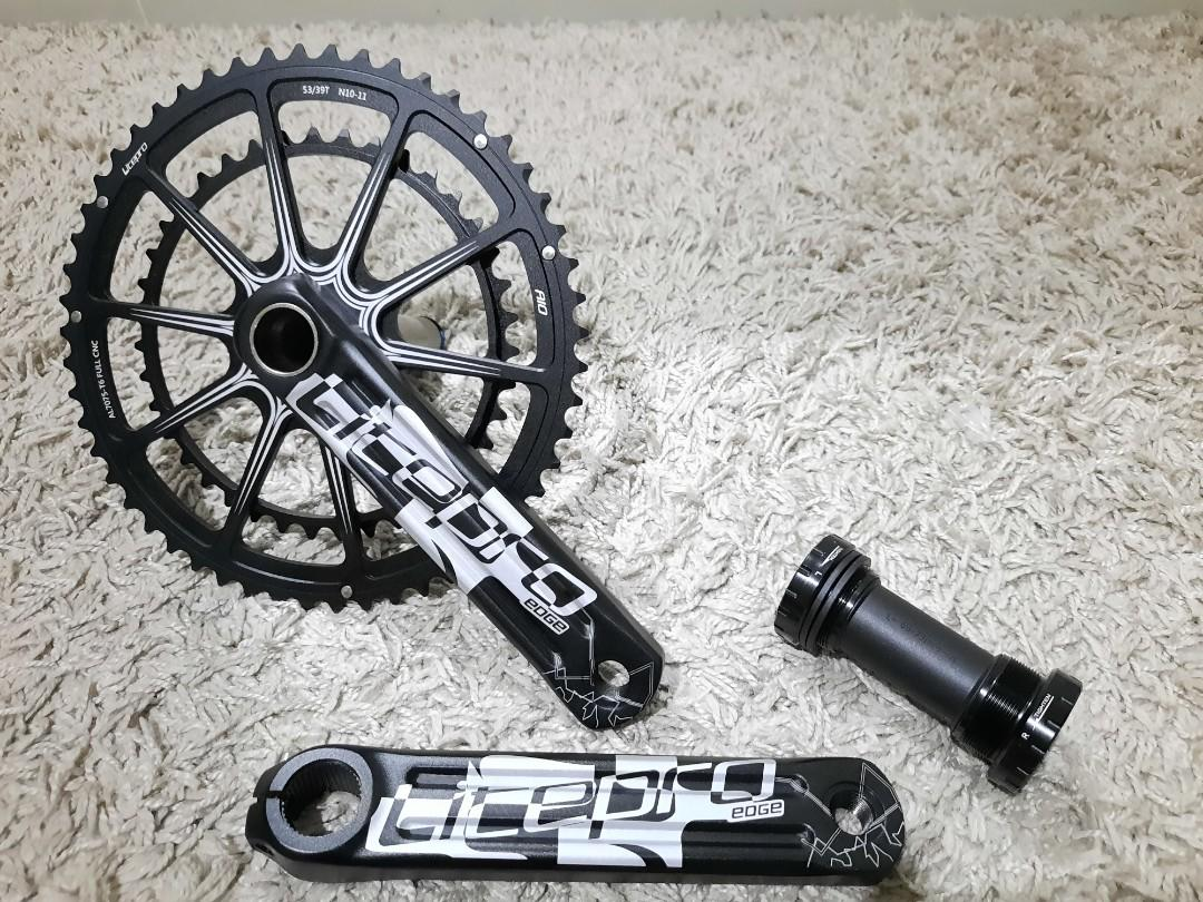 Crankset litepro edge aio double chainring 53-39t bottombracket hollowtech 2