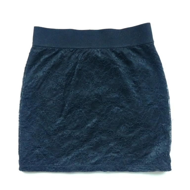 H&M Black Lace Skirt Size 6