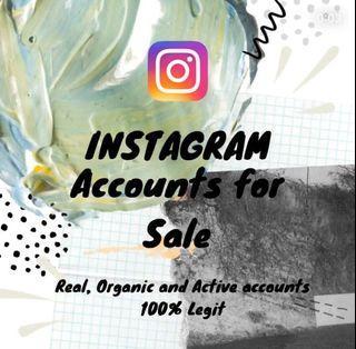 IG Accounts For Sale 💯 Legit