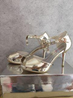 Sale Key West Gold Metalic Shoes 35