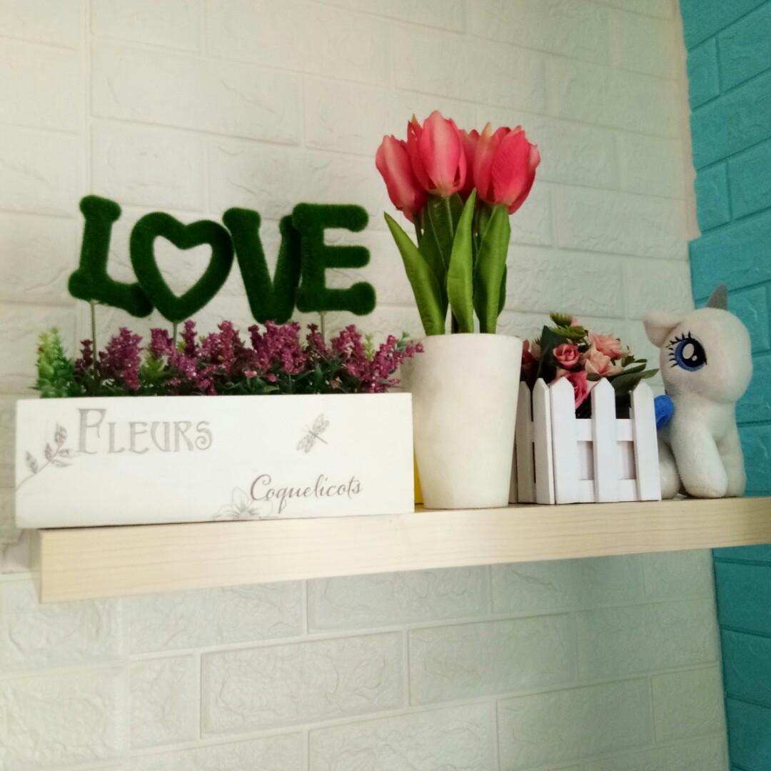 #Lemarirapi Bunga pajangan 3 item