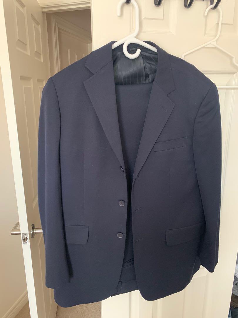 Men's Pinstripe Navy blue suit