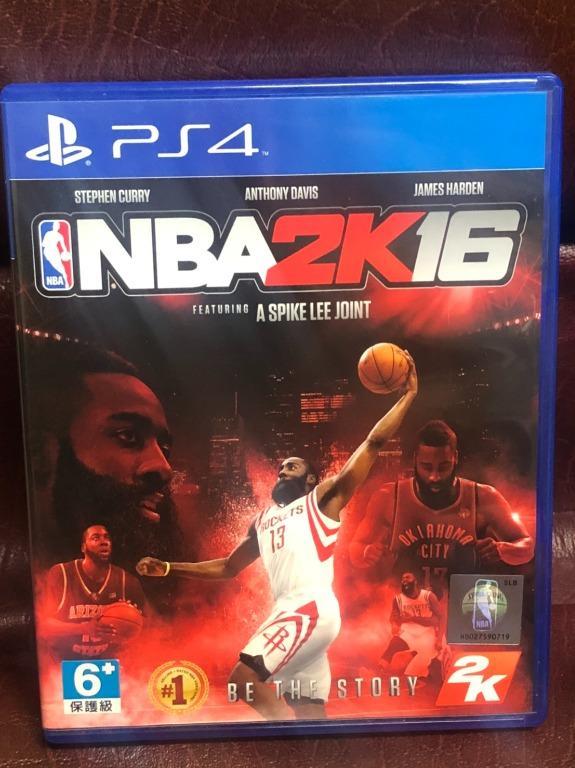 NBA 2K16 ENGLISH PS4 遊戲 中英文版 二手
