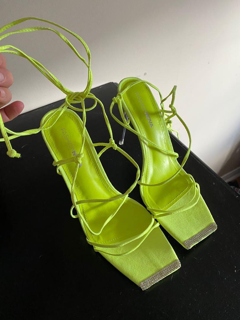 Bright green pumps