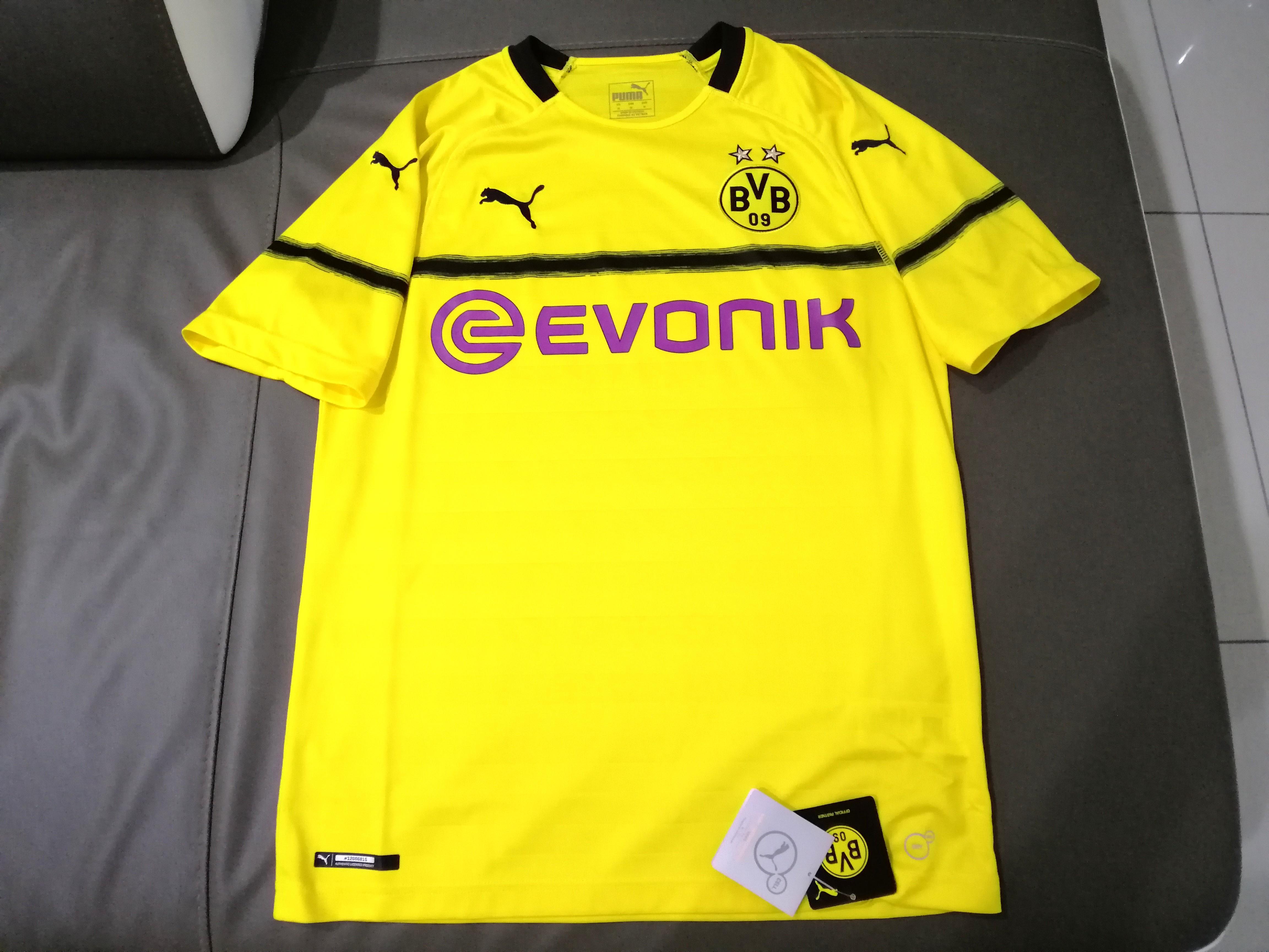 New Original Puma Borussia Dortmund Bvb 3rd Cup Jersey 18 19 Sports Athletic Sports Clothing On Carousell