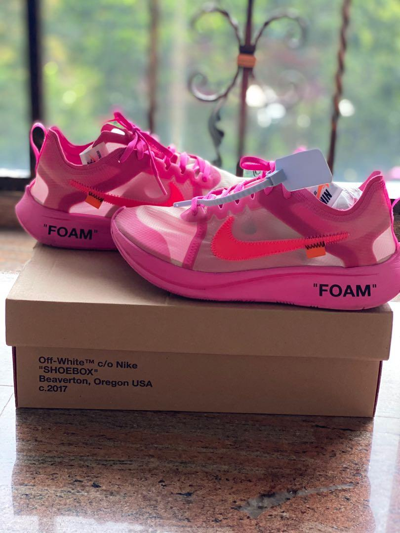 off white pink shoes