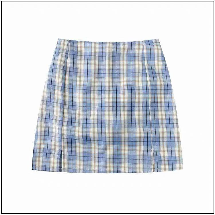 Plaid skirt size M only wore once