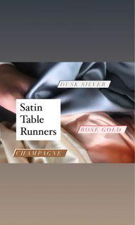 Satin table runner for wedding / home solemnisation