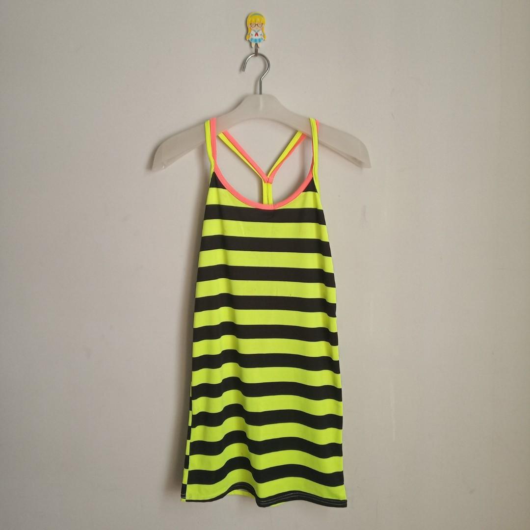 Tanktop  Stripes Yellow Green