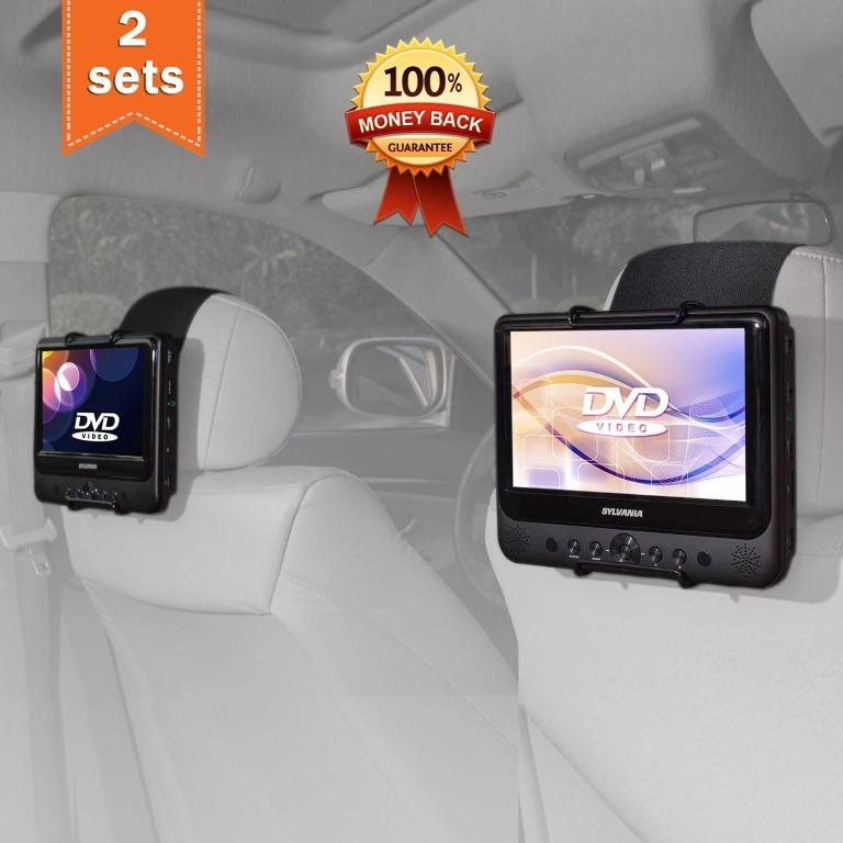 Tfy Car Headrest Mount Holder For 7 Inch 10 Inch Swivel Screen Portable Dvd Player Car Accessories Accessories On Carousell