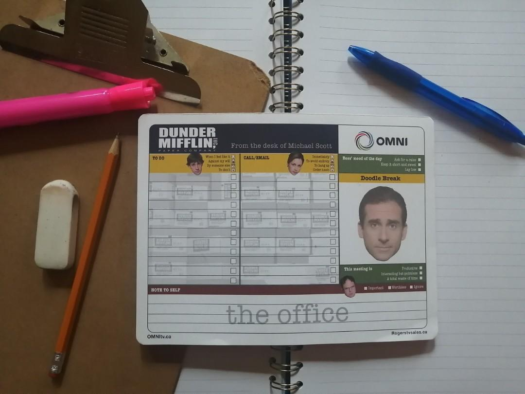 The Office Promo pad of paper
