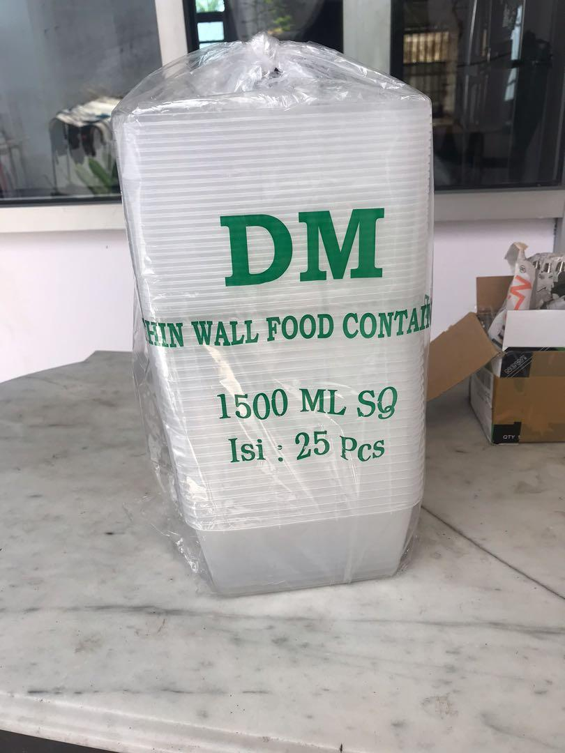 Thinwall food container 1500 mL