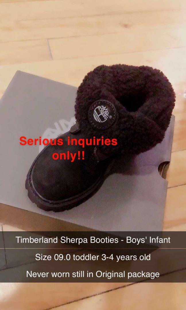 Timberland Sherpa booties boys infant