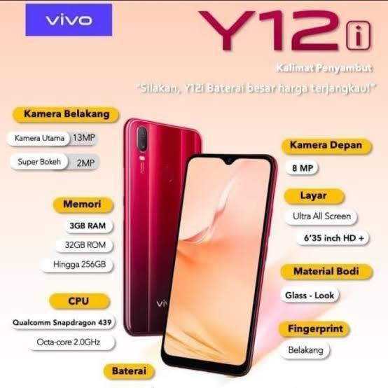Vivo Y12i 3/32 GB Bisa cash/cicilan tanpa kartu kredit Proses 3 menit