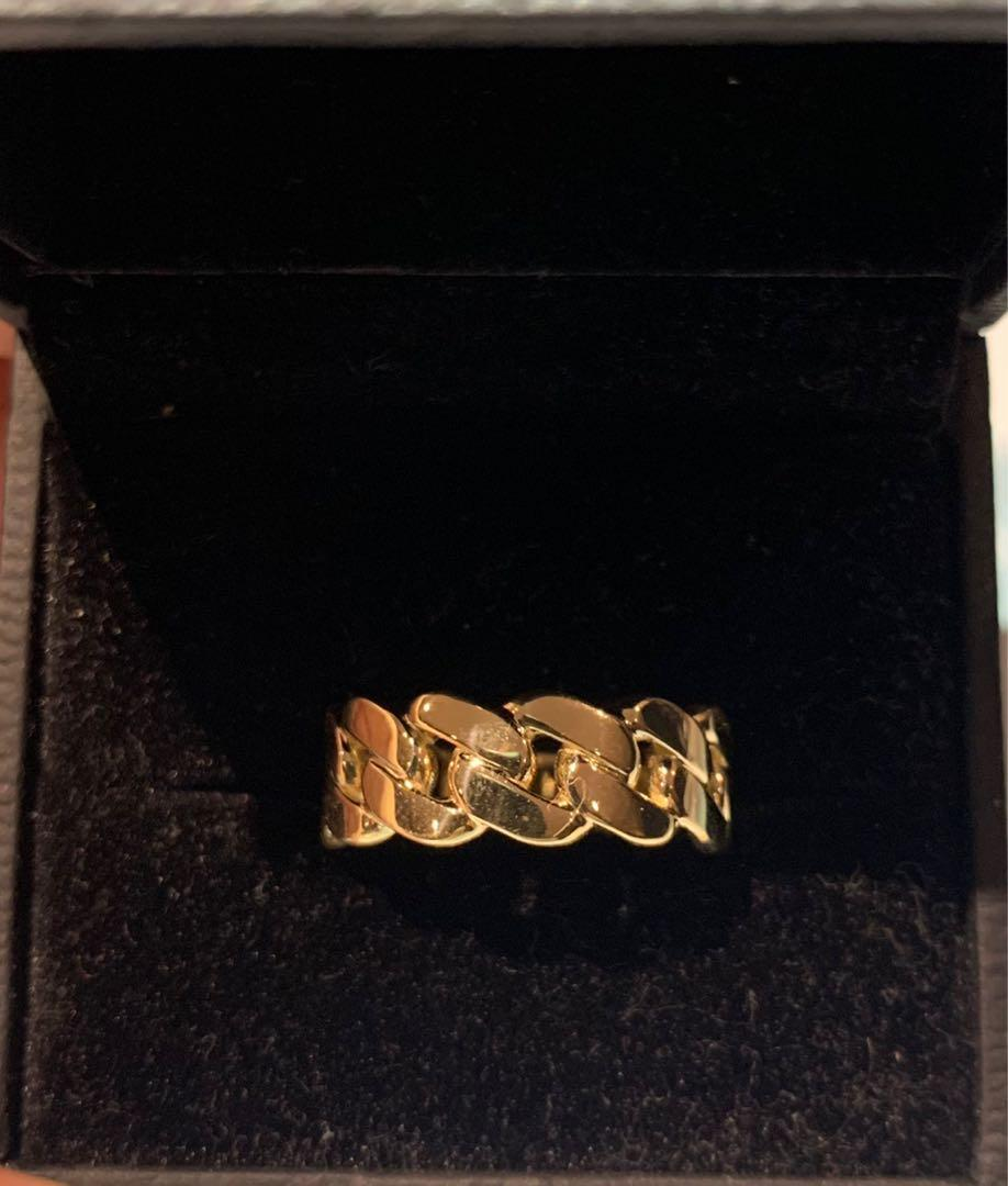 10k Solid Gold Cuban Ring 8mm Size 9