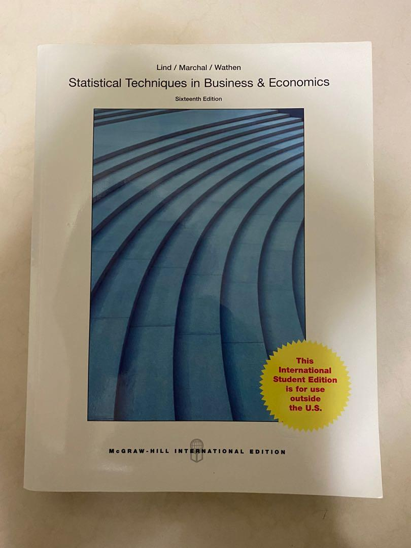 統計學原文書 Statistical Techniques in Business &Economics