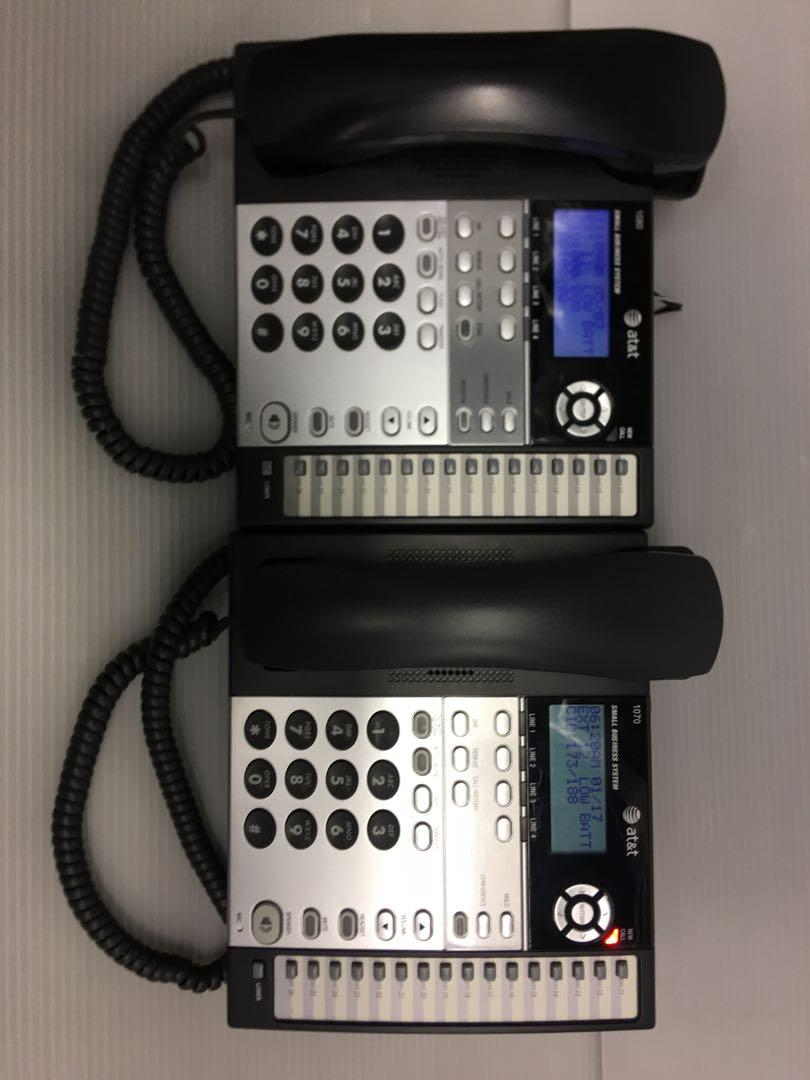 AT&T 1080&1070 4 lines Phones