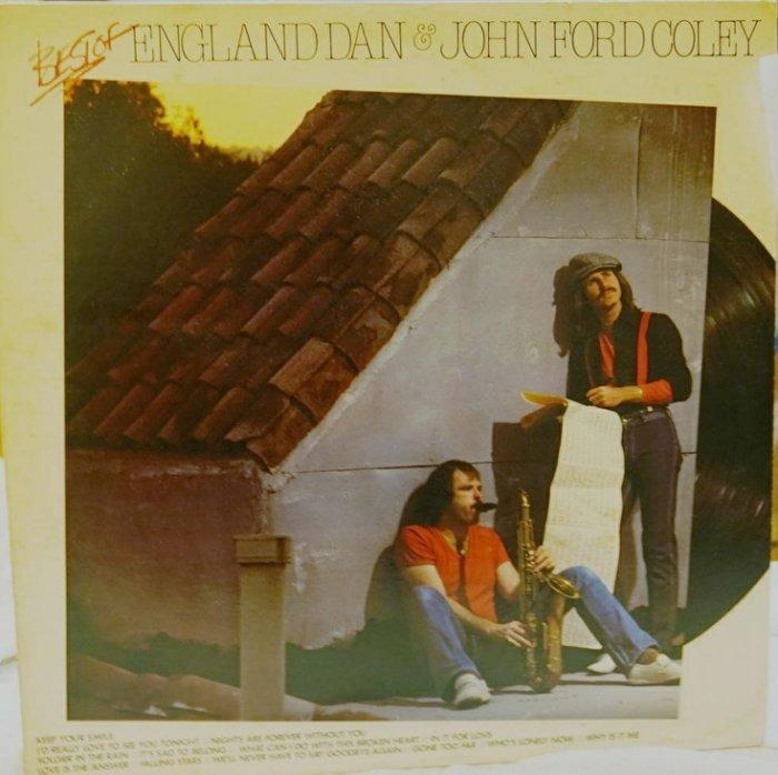 黑膠流行/日版/BEST OF ENGLAND DAN & JOHN FORD COLEY二重唱/NM  #二手價
