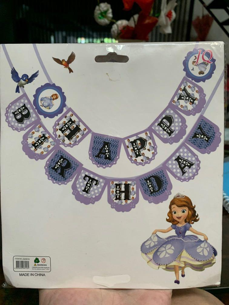 Bunting Flag Sofia The First