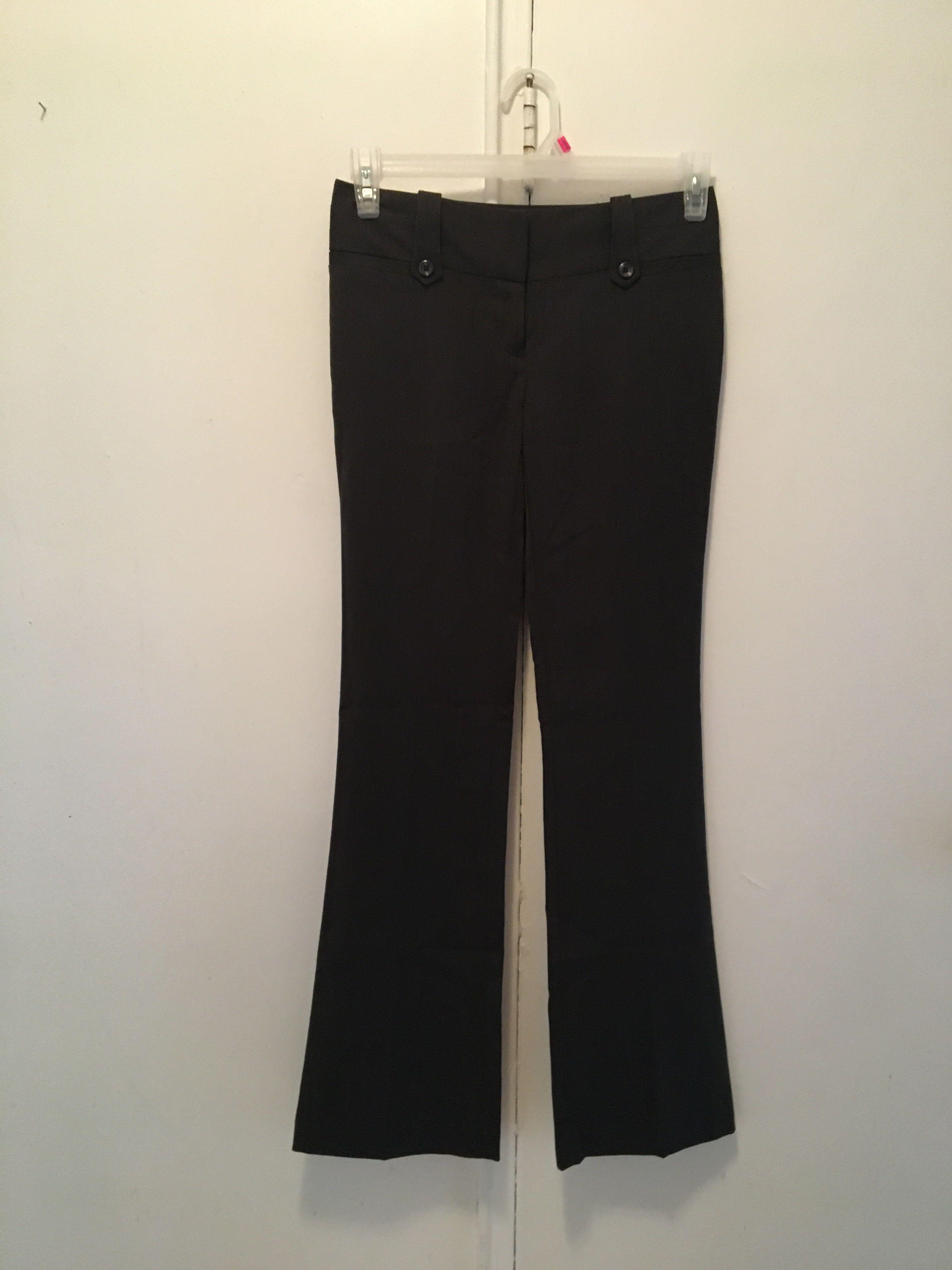 Dark Grey Straight Leg Pants