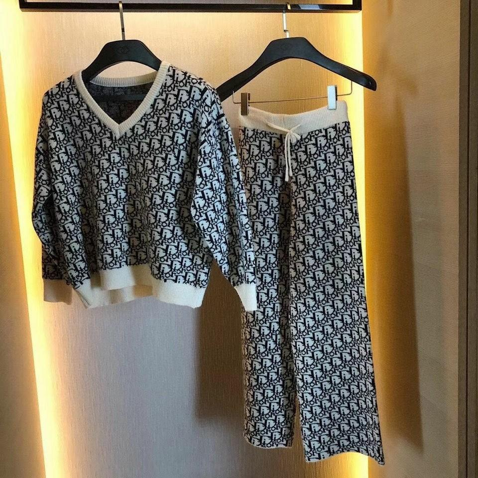 Dior fashion woman sweater suit free shopping