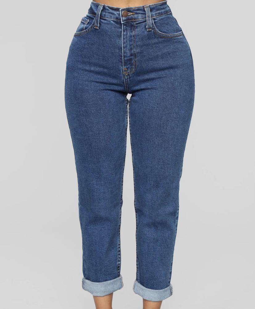 FASHIONNOVA I Got It From My Mama Jeans - Dark Denim
