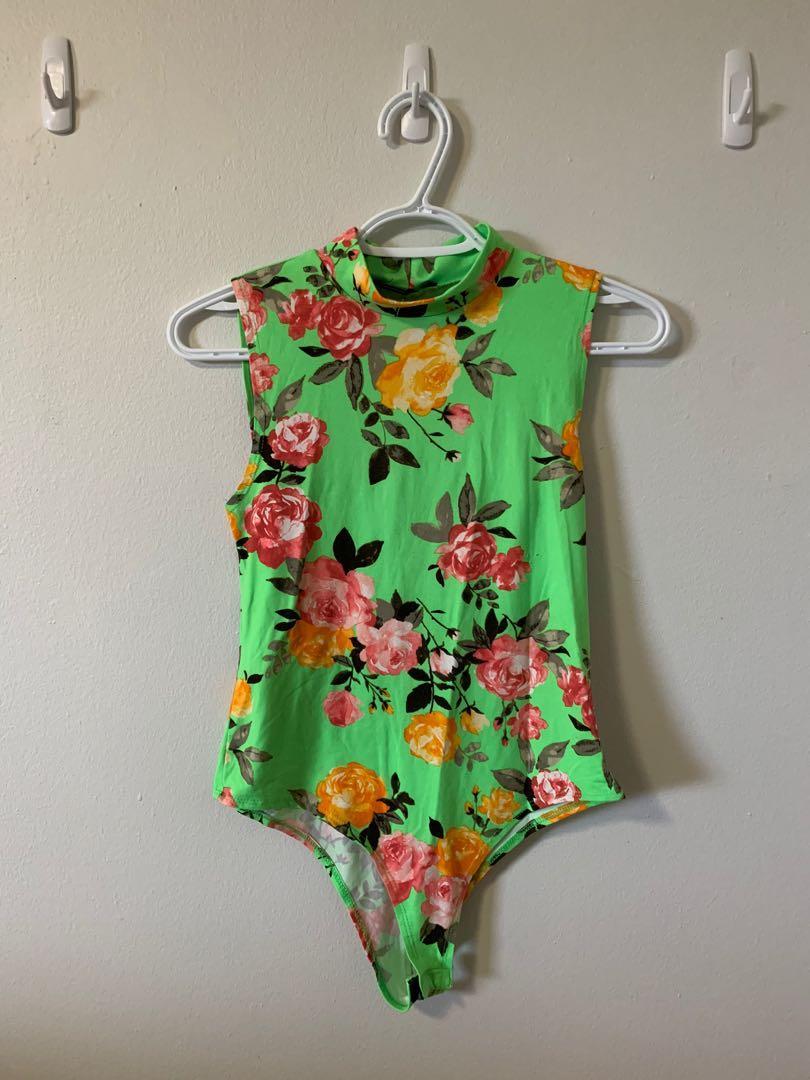 Floral Neon Bodysuit