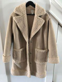 Forever 21 long shearling coat - size small