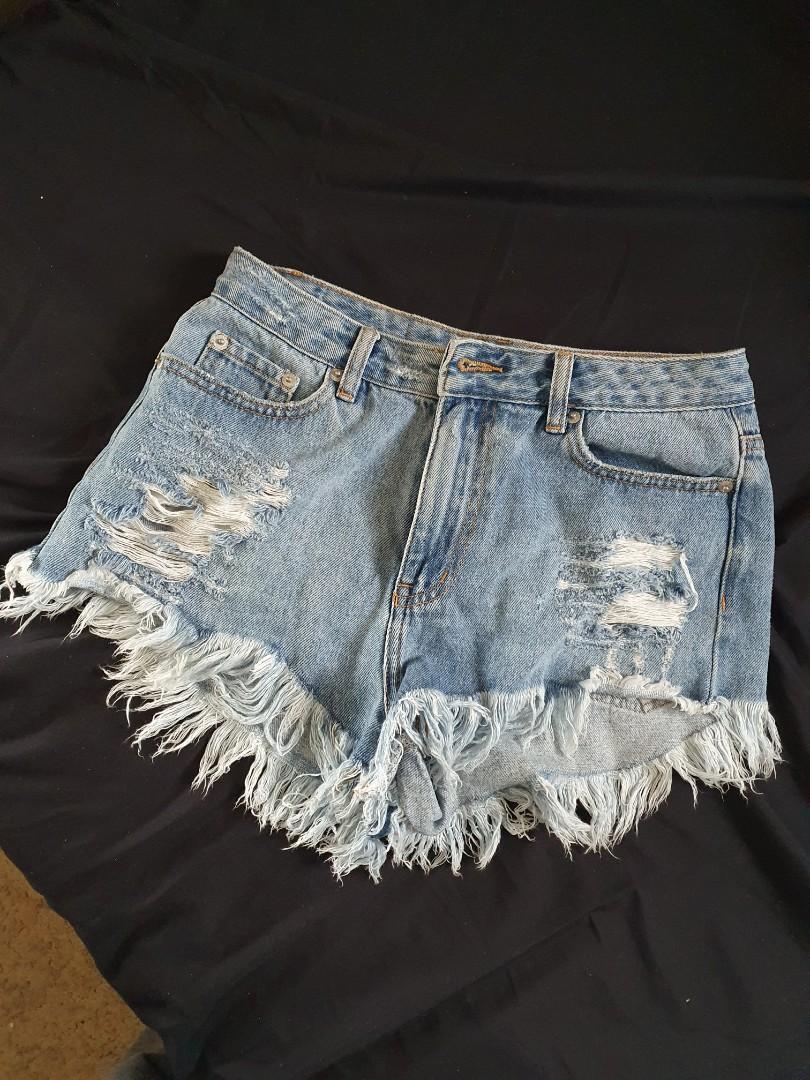 Glassons Ripped Denim shorts