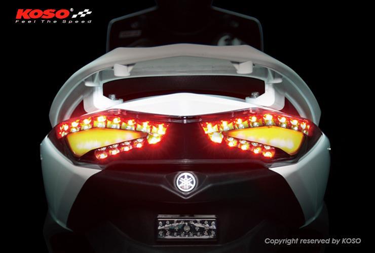 【KOSO】後燈組總成 LED後燈 三代新勁戰 透明黑燈殼 方向燈黃光 剎車燈紅光 四代戰 五代戰 改裝 三代戰 尾燈