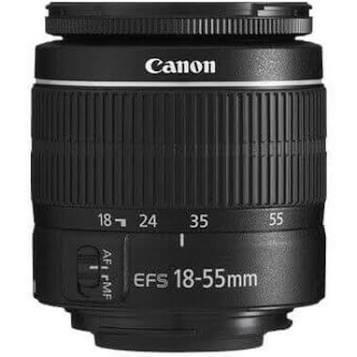 MINT CONDITION Canon EF-S 18–55mm lens f/3.5–5.6