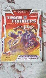 MISB Transformers G1 Soundwave Commerative Edition with Ravage and Laserbeak