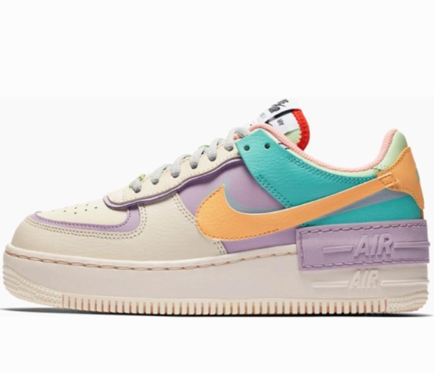 Nike Air Force 1 Shadow Pastel, Women's Fashion, Footwear ...