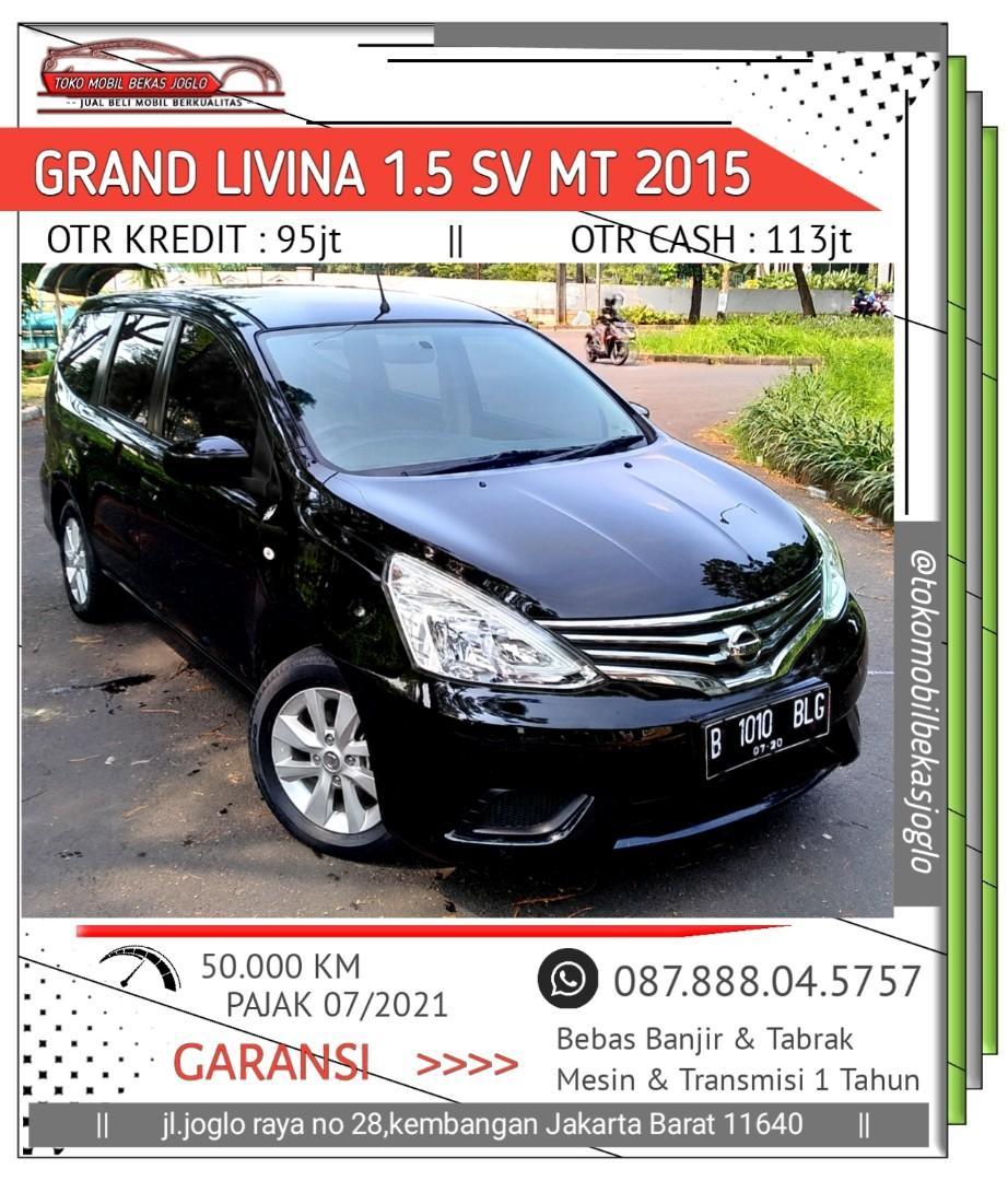 Nissan Grand Livina 1.5 SV MT 2015 Hitam TDP 18jt Kondisi Istimewa Bergaransi Mesin Transmisi 1 Tahun