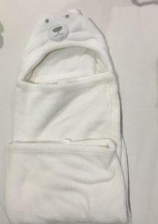 Baby Bear Blanket White