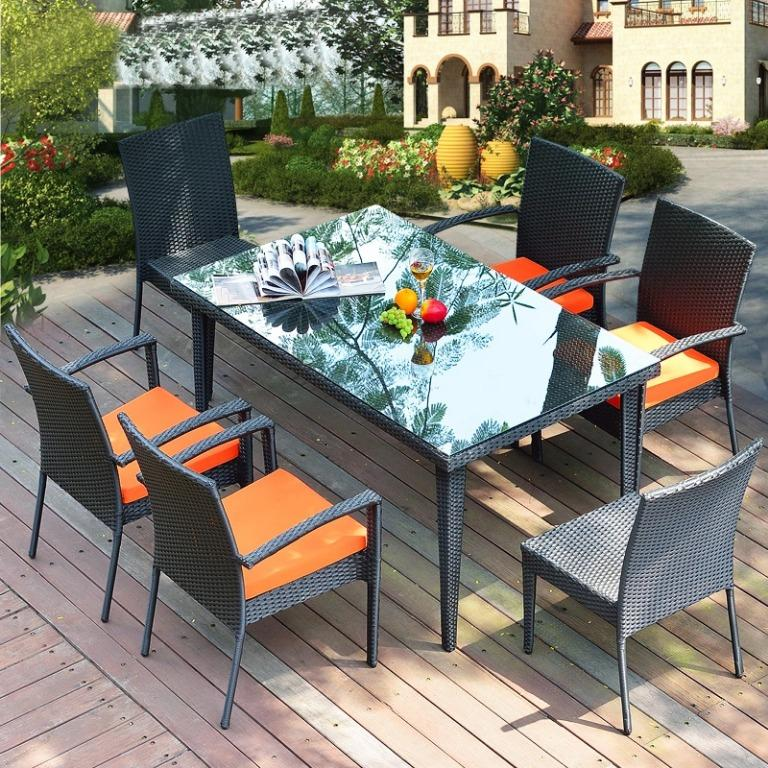 Outdoor Furniture Table Chair, Patio Furniture Table
