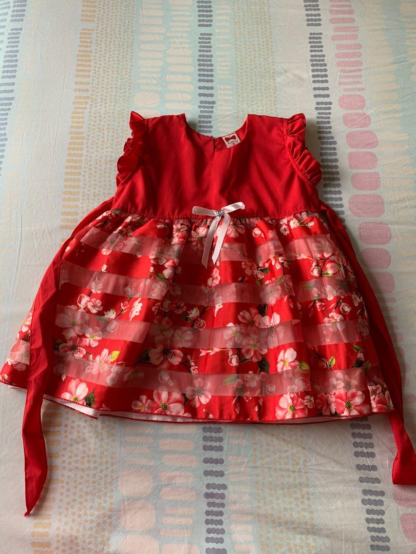 Pretty Party Dress For 2 4 Years Old Little Girl Babies Kids Babies Kids Fashion On Carousell