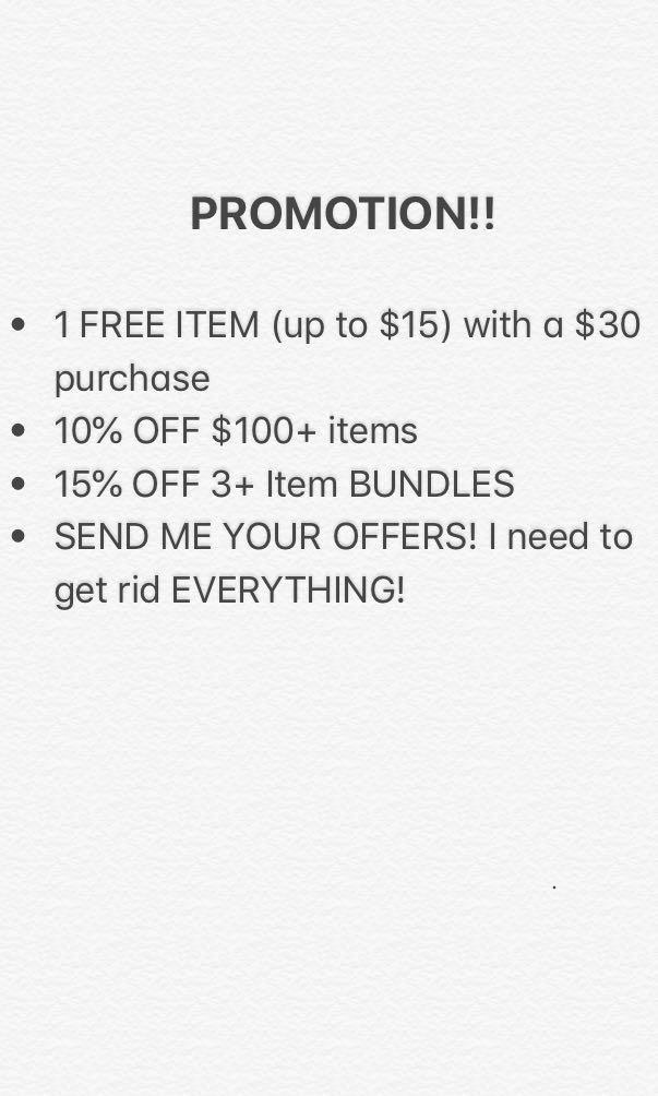 Promotion! Moving Sale
