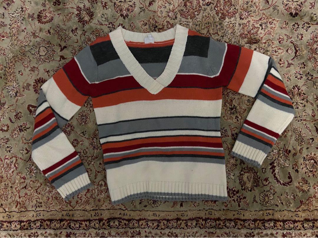 SUZY SHIER Vintage Wool V-Neck Sweater🧶