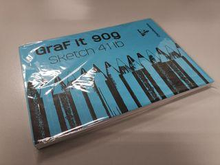 A6 Sketchbook Graf It 90g // M2 80 Sheets Packaging Color By Stock Availab...