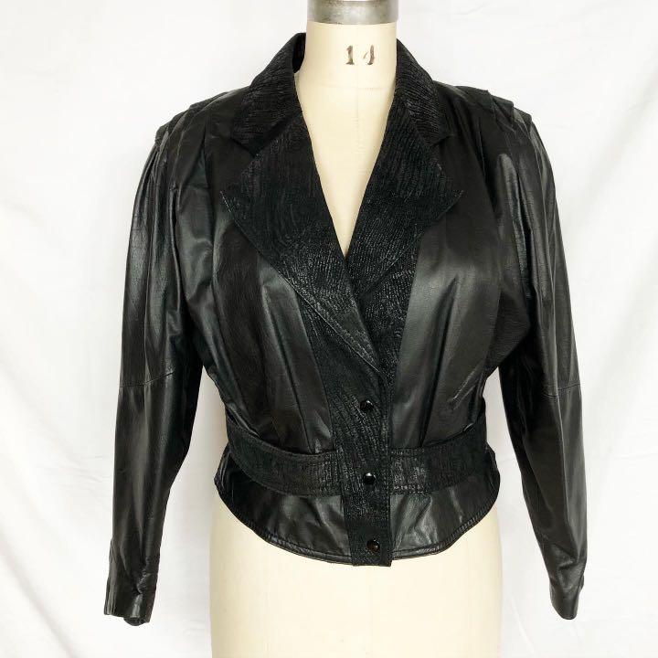 80's Vintage Genuine Leather Jacket