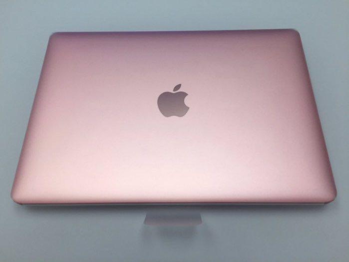 APPLE 稀少的粉紅 玫瑰金 MacBook 12 M5 512G高容量 RETINA 電池僅17次 刷卡分期零利率