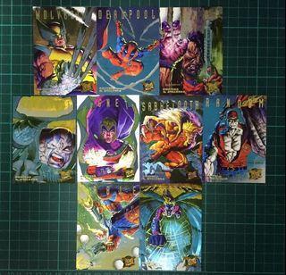 絶版 X-Men 特別咭全套共9張