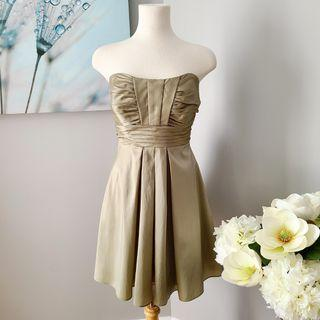 B2 Satin A-Line Sweetheart Pleated Cocktail Dress