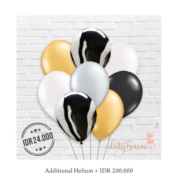 Black Mix Latex Balloons Bundle
