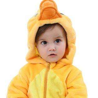 BNIB Unisex Baby Animal Costumes Hooded Flannel Romper Outfit