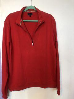 Burberry long sleeve polo golf shirt
