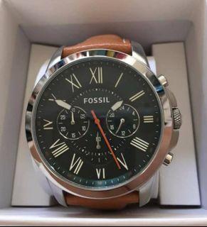 Fossil 三環石英手錶綠色錶盤